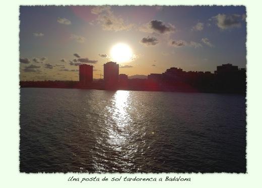 Platja de Badalona a la tardor