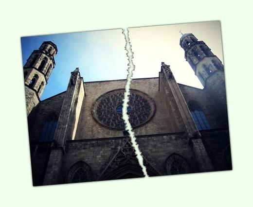 Santa Maria del Mar trencada