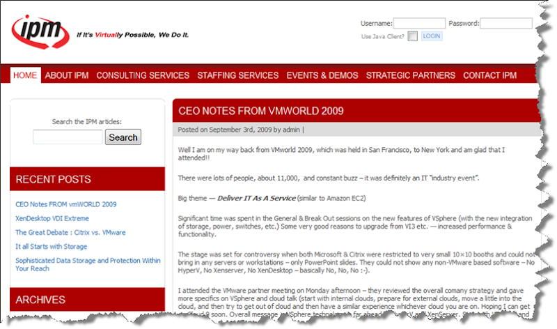 A CEO's Notes from VMworld 2009