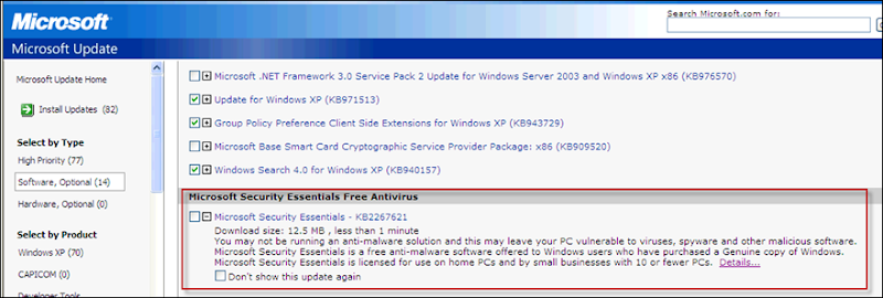 Microsoft Windows Security Essentials – Free AntiVirus