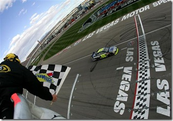 2010 Las Vegas NSCS checkered flag jimmie