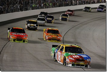Richmond1 May NSCS Kyle Busch leads