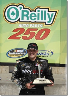 KANSAS CITY, KS - MAY 02:  during for the NASCAR Camping World Truck Series O'Reilly Auto Parts 250 on May 2, 2010 at Kansas Speedway in Kansas City, Kansas.  (Photo by Jonathan Ferrey/Getty Images)