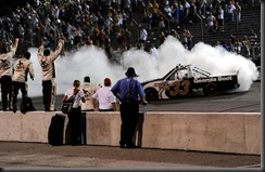 2010 OReilly Raceway NCWTS Ron Hornaday burnout
