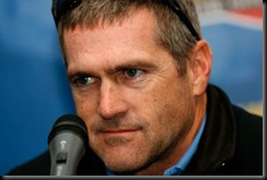 DAYTONA BEACH, FL - JANUARY 14:  Bobby LaBonte, driver of the #43 Cheerios Dodge speaks with the media during NASCAR testing at Daytona International Speedway on January 14, 2008 in Daytona Beach, Florida.  (Photo by Rusty Jarrett/Getty Images for NASCAR) *** Local Caption *** Bobby LaBonte