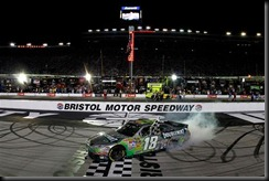 2010 Bristol Aug NSCS Kyle Busch burnout