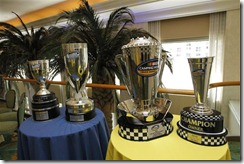 2010 Miami Nov NNS NCWTS media luncheon trophies