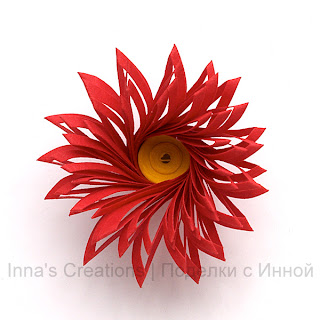 Handmade Double Fringed Paper Flower Tutorial by Inna's Creations