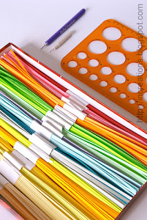Home-made paper strips for quilling