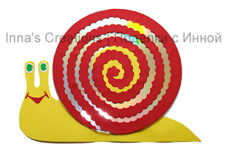 Snail made of CD