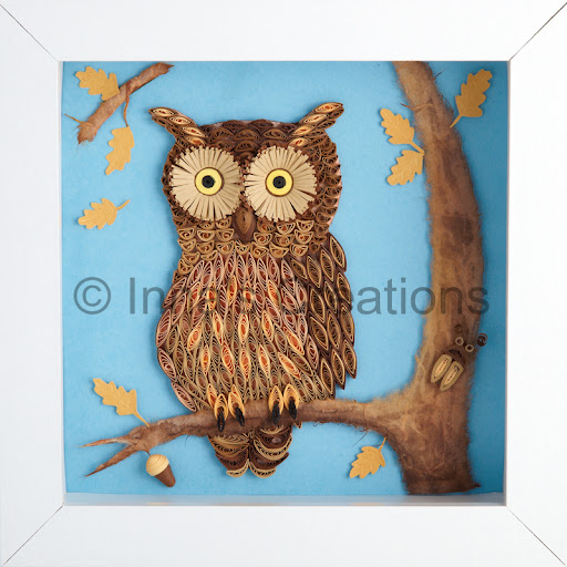 Inna s creations owls everywhere quilled