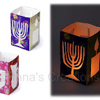 Hanukkah-themed lantern