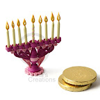 Miniature Hanukkah Menorah, quilling