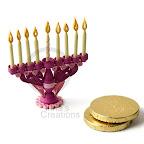 Miniature Hanukkah Menorah, quilling