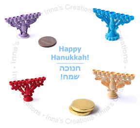 Miniature Hanukkah Menorah's