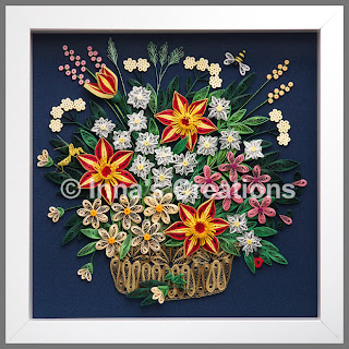 Flower basket - framed picture