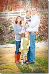 Emily family standing