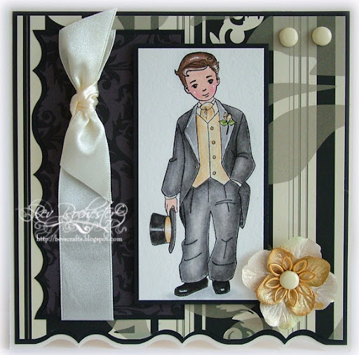Last black and cream wedding card