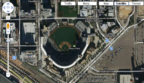 Satellite View of Petco Park