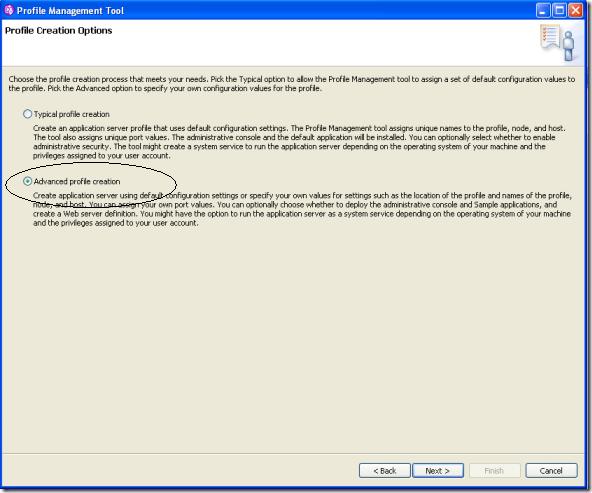 WebSphere-App-Server-Advance-Profile-Rad