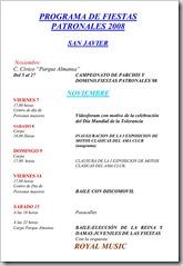 PROGRAMA DE FIESTAS PATRONALES 2008-1