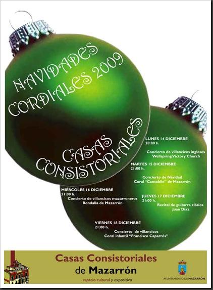 Cartel Navidades Cordiales en Casas Consistoriales