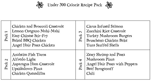 under 300 cal pack pic