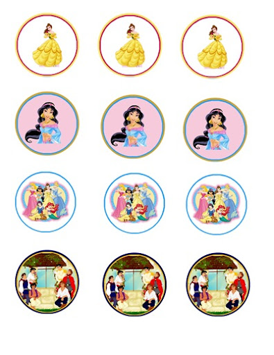 Pocket Meal Planning FREEBIE FRIDAY Princess cupcake toppers