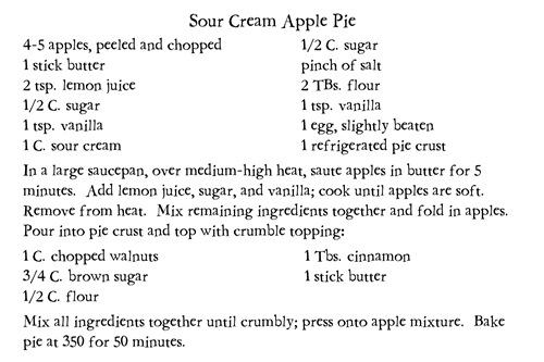 Sour Cream Apple Pie pic