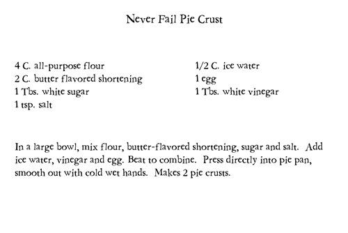 2Never Fail Pie Crust