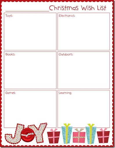 Christmas Wish Lists   weheartfreebies