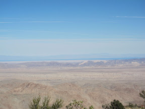 View of the Salton Sea from a ridge above Indian Valley - Anza Borrego