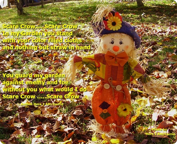 Scare Crow with Poem yellow