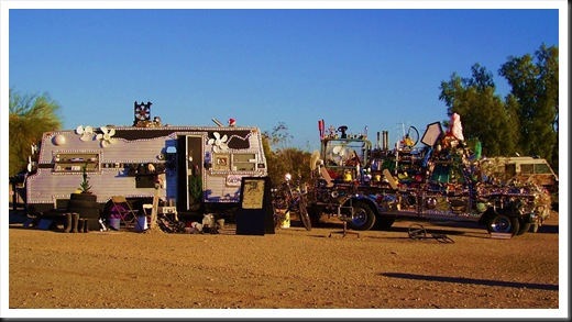 Niland Ca Decorated Truck and Trailer