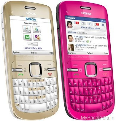 Nokia C3 Price in India