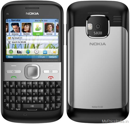 Nokia E5 Price in India
