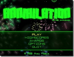 Annihilation freeware shooter