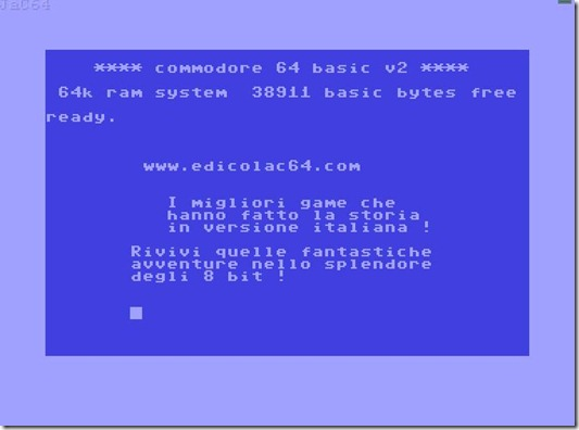 Commodore 64 online in Italia