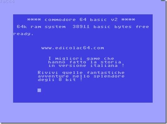 Commodore 64 online in Italia