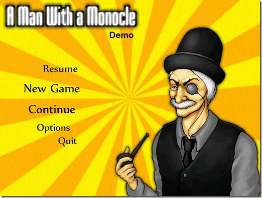 A Man Whit A Monocle indie game demo