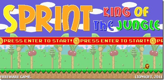 SPRINT - KING OF THE JUNGLE freeware game (4)