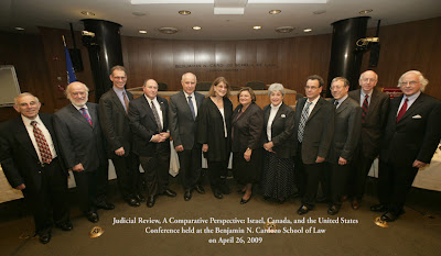 תמונה של פורום שולחן עגול בכנס המשפטי בקרדוזו