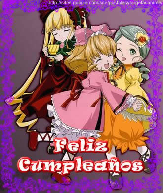 Postales Anime De Cumpleanos Postales Y Tarjetas Anime De Amistad - Postales-para-cumpleaos