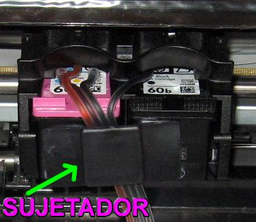 Burbujas de aire sistema continúo de tinta de una hp D1660