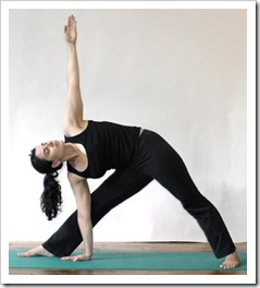 Yoga photo shoot at Srephanie Berger's studio.