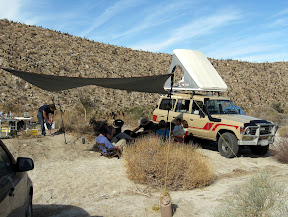 Anza Borrego Camp Site in RockHouse canyon