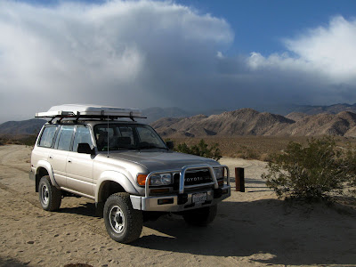 Our Landcruiser on Egg Mountain in Anza Borrego