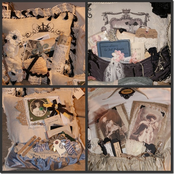 4 pillow collage