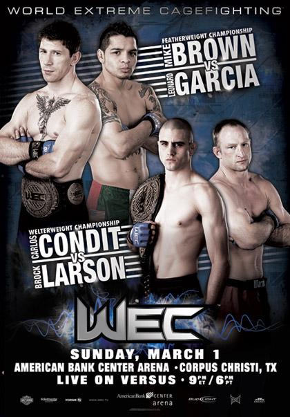 WEC 39: Браун vs. Гарсия