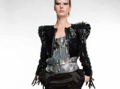 Kai Yeung Yau recycled video tape clothing